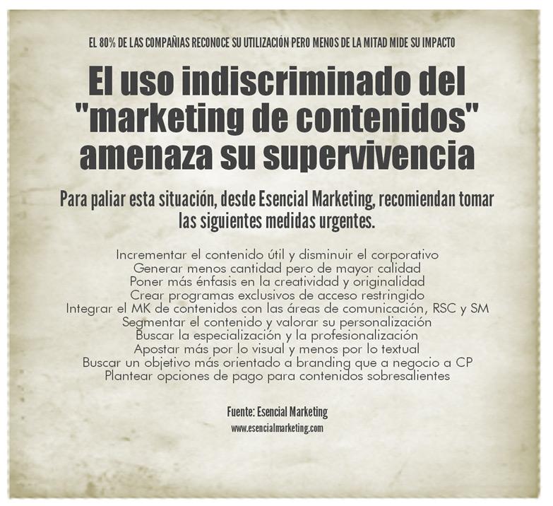 El uso indiscriminado del Marketing de Contenidos fuerza su evolución