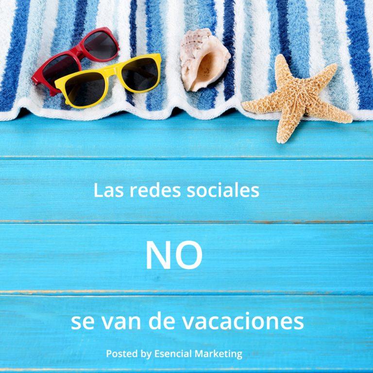 Las redes sociales no se van de vacaciones
